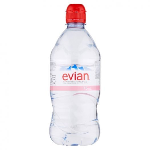 Image of a Evian Still Water bottle