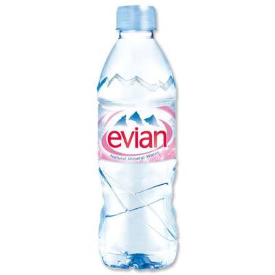 Image of an Evian Still Water Bottle