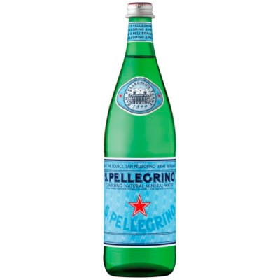 Image of a San Pellegrino Sparkling Water bottle
