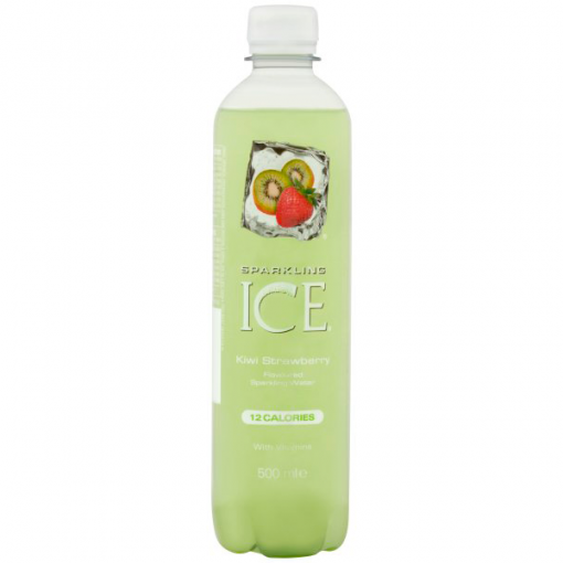 Image of a Sparkling Ice Kiwi & Strawberry Sparkling Water bottle
